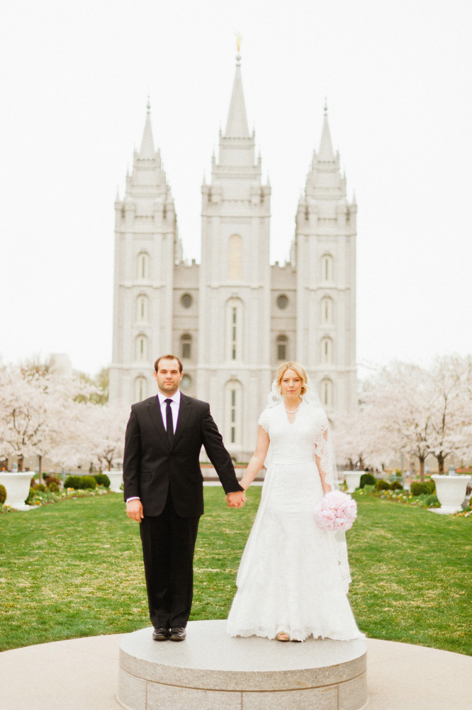 slc temple wedding