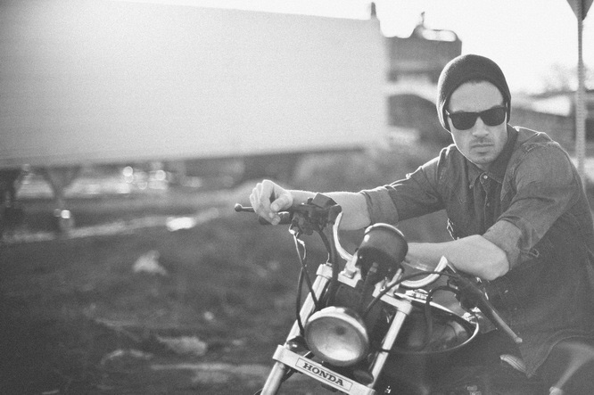 fashion motorcycle shoot
