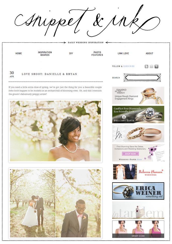 wedding blog snippetandink